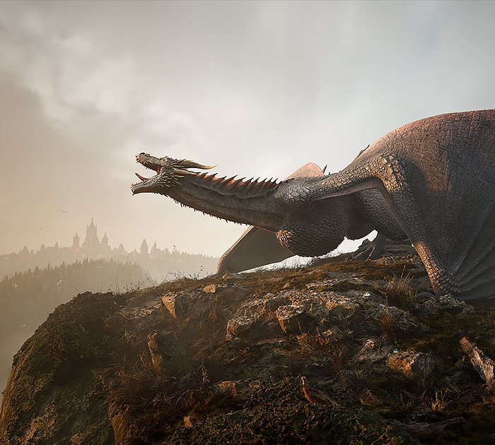 Unreal Engine – Dragon Landing